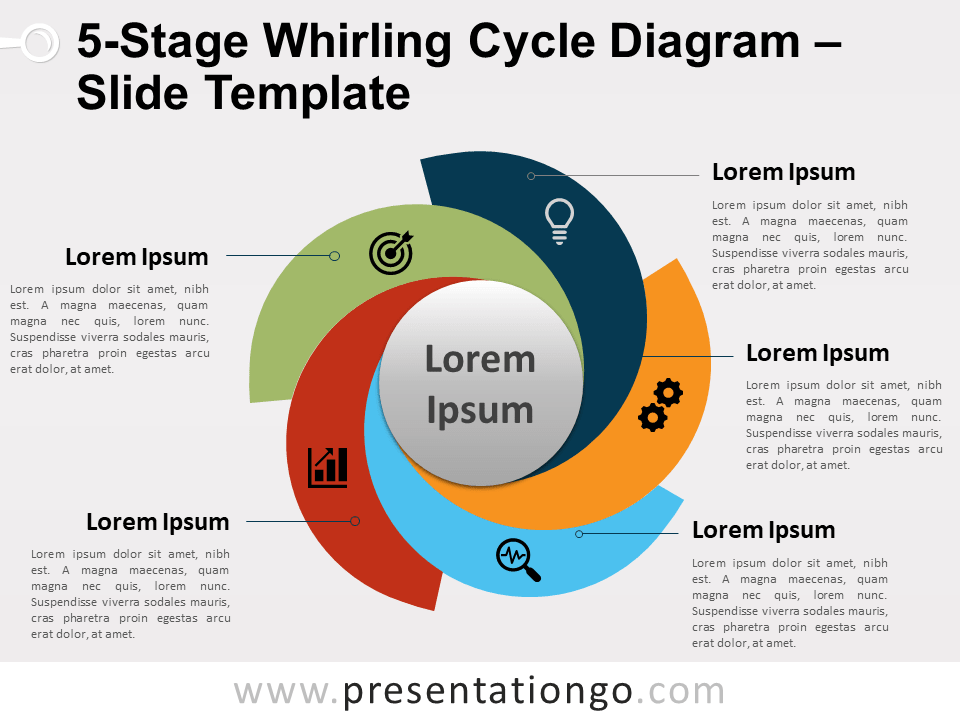 5Stage Whirling Cycle Diagram for PowerPoint and Google