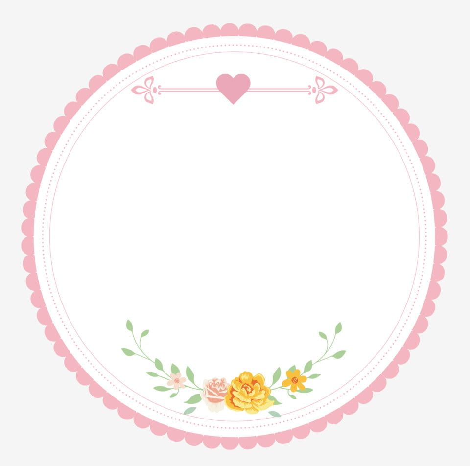 Pink Cute Lace Flowers Round Vector Border Material Pink 38 Women S Day Love Png And Vector With Transparent Background For Free Download Love Png Cute Owls Wallpaper Floral Monogram Letter