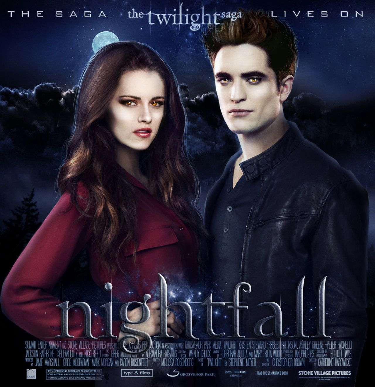 the twilight saga lives on nightfall by thesearchingeyes