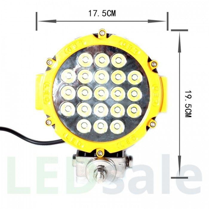 63W LED Arbejdslys 12V24V | Farver