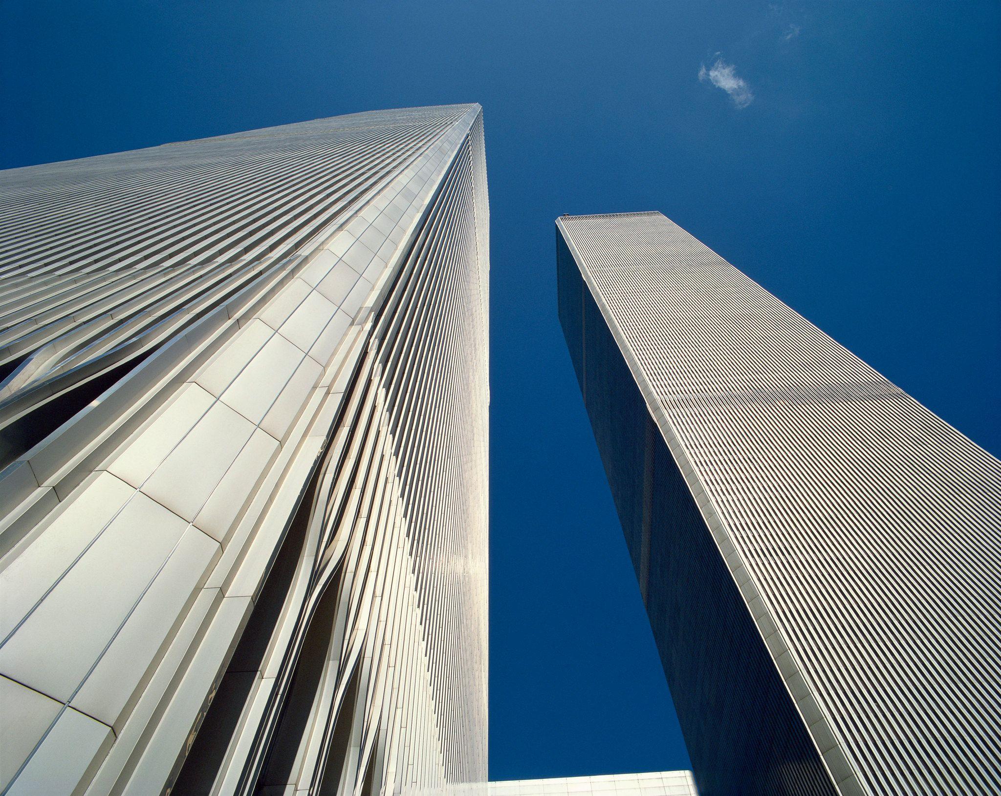 Twin towers, 110 stories high, worlds tallest   Modern