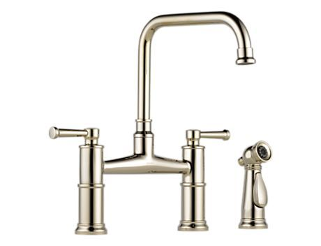Two Handle Bridge Kitchen Faucet With Spray 62525lf Pn Artesso