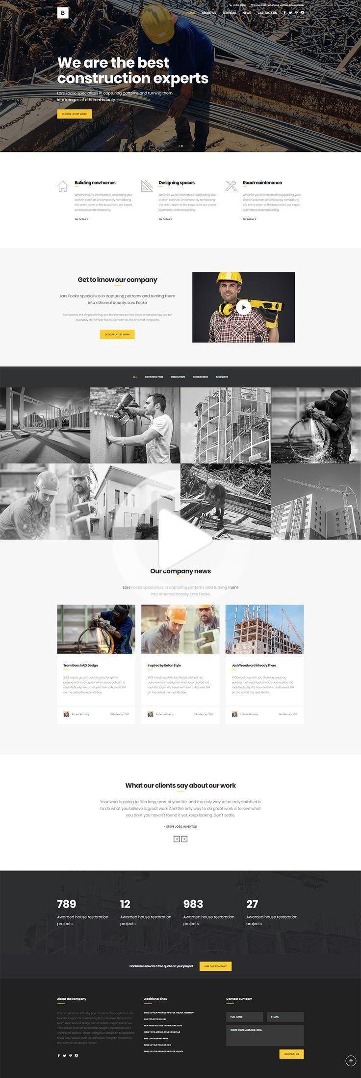 35+ Best CONSTRUCTION WordPress Themes [2020] in 2020
