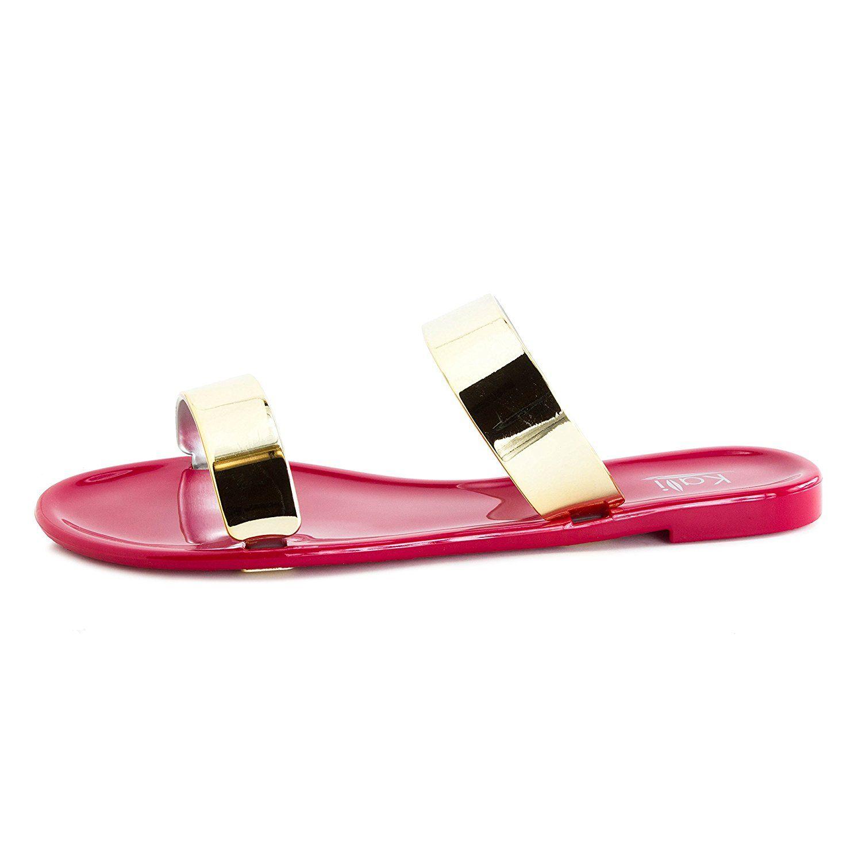 Kali womens open toe gladiator gold strap flat sandals adults