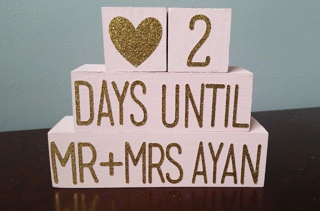 Countdown To Wedding Gifts: Created & Completed Crafts