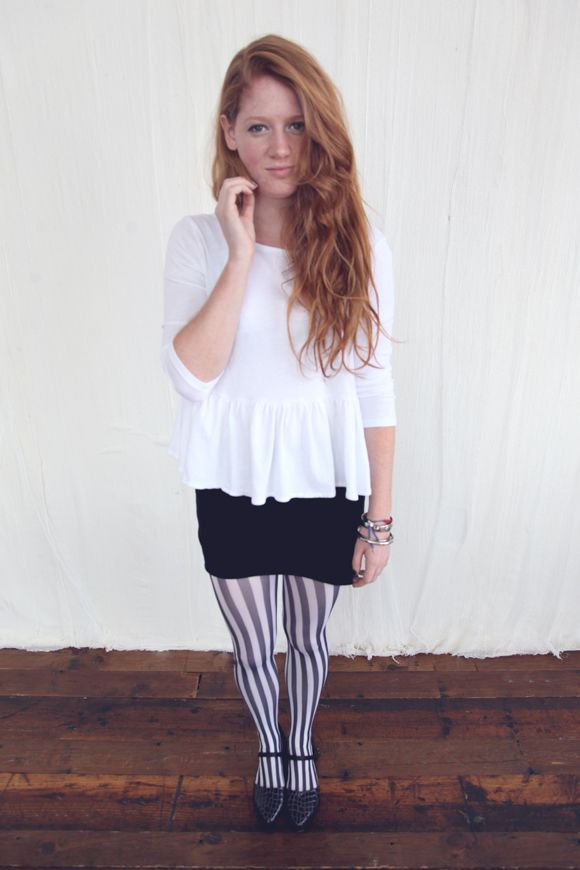 How To Rock Striped Tights
