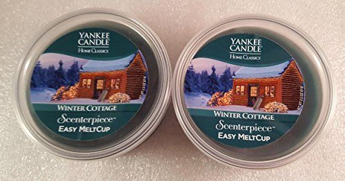 Yankee Candle Home Classics Winter Cottage MeltCup for ScenterPiece Warmer 2 New Melt Cups 2.2oz each *** Find out more details @