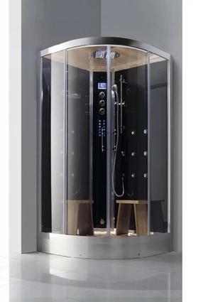 Athena Ws 105 Steam Shower 47 W X 47 D X 89 H Black In 2020 Steam Showers Steam Shower Units Rainfall Shower