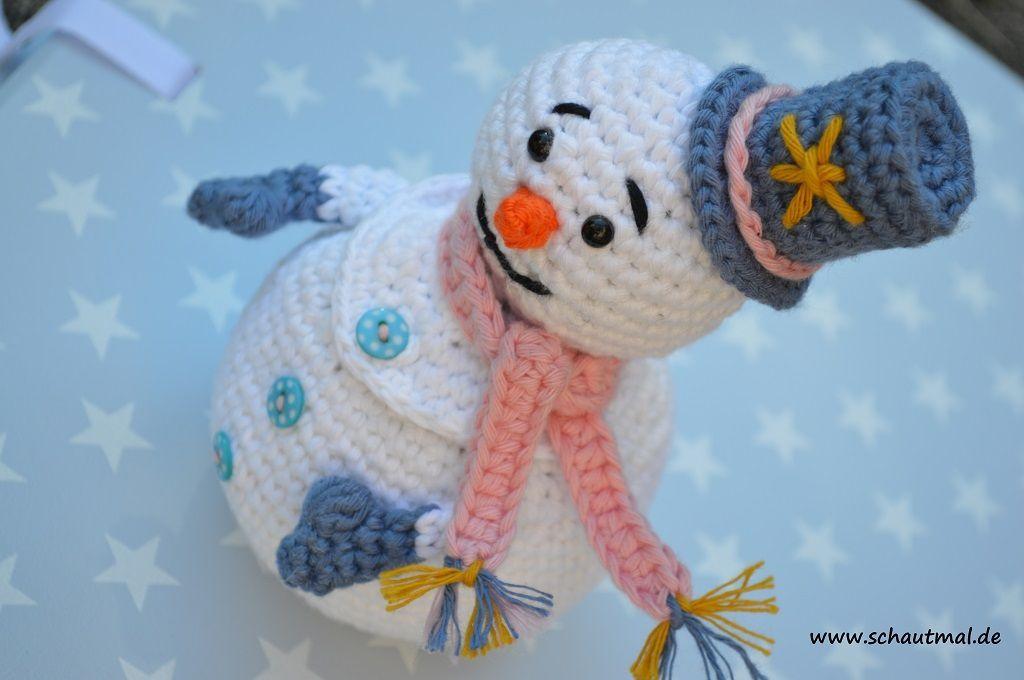 Gratis Haakpatroon Sneeuwpop Freubelweb Haken Kerst Breien En Haken Sneeuwpop