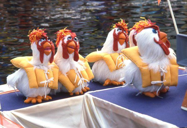 Birds of a feather float together. The Muppets, April 2016