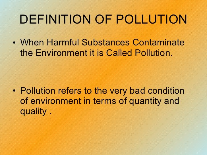 five types of environmental pollution