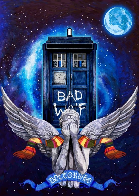 The Angel with Tardis Doctor who by Three Second