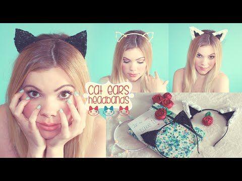 ▶ 3 DIY Cat Ears Headbands ♡ (Ariana Grande Inspired!) | Cute Hair Accessories - YouTube