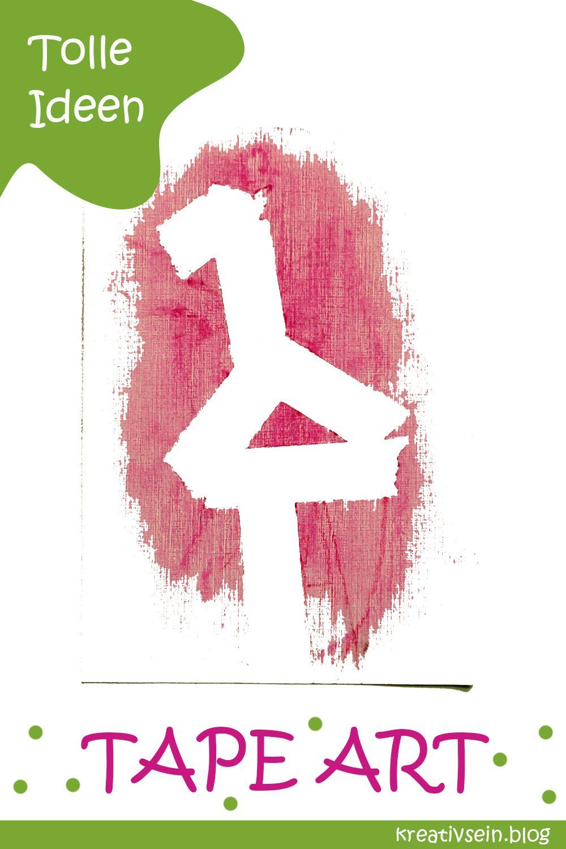 Karten Malen mit Kindern – Tape Art – kreativsein.blog