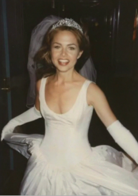 Rachel Zoe On Her Wedding Day In Her Isaac Mizrahi Wedding Gown, Tiara And  Veil!