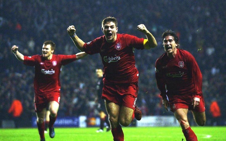 John Arne Riise, Steven Gerrard and Harry Kewell | Liverpool
