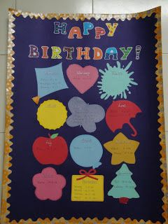 My Handmade Cards Birthday Chart For Classroom