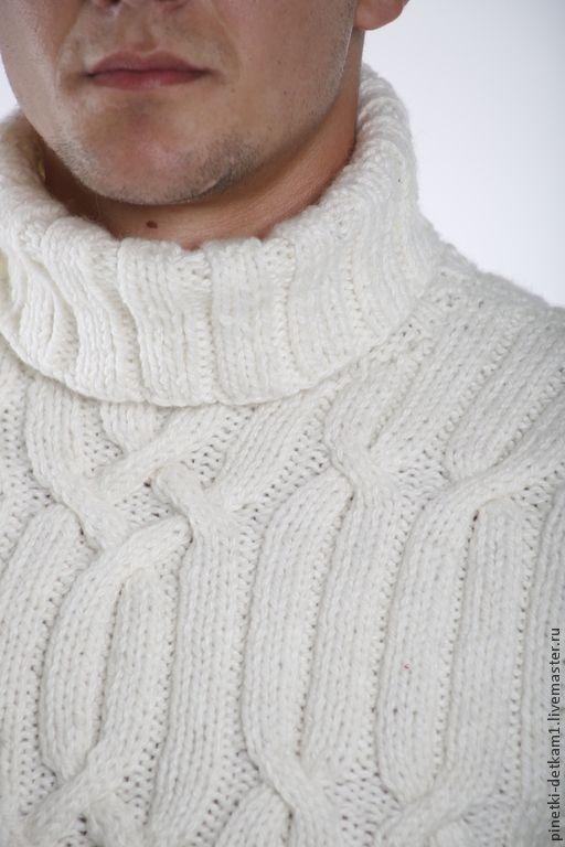 9b9d1f80703d Купить Мужской белый свитер - белый, кардиган, свитер, теплый, зимний, в  подарок мужчине
