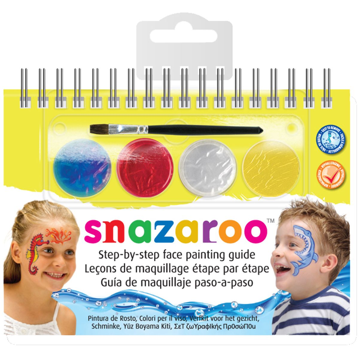 Reeves Snazaroo Step-By-Step Face Painting Kit- Life