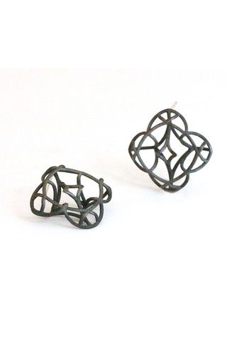 Kaleidoscope black earrings