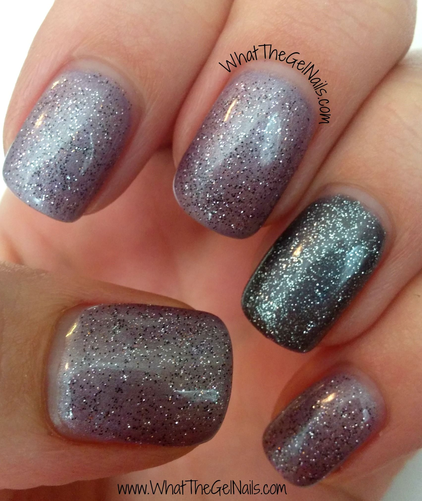 This New Years Eve Manicure Uses Ibd Amethyst Surprise Polar Sky And