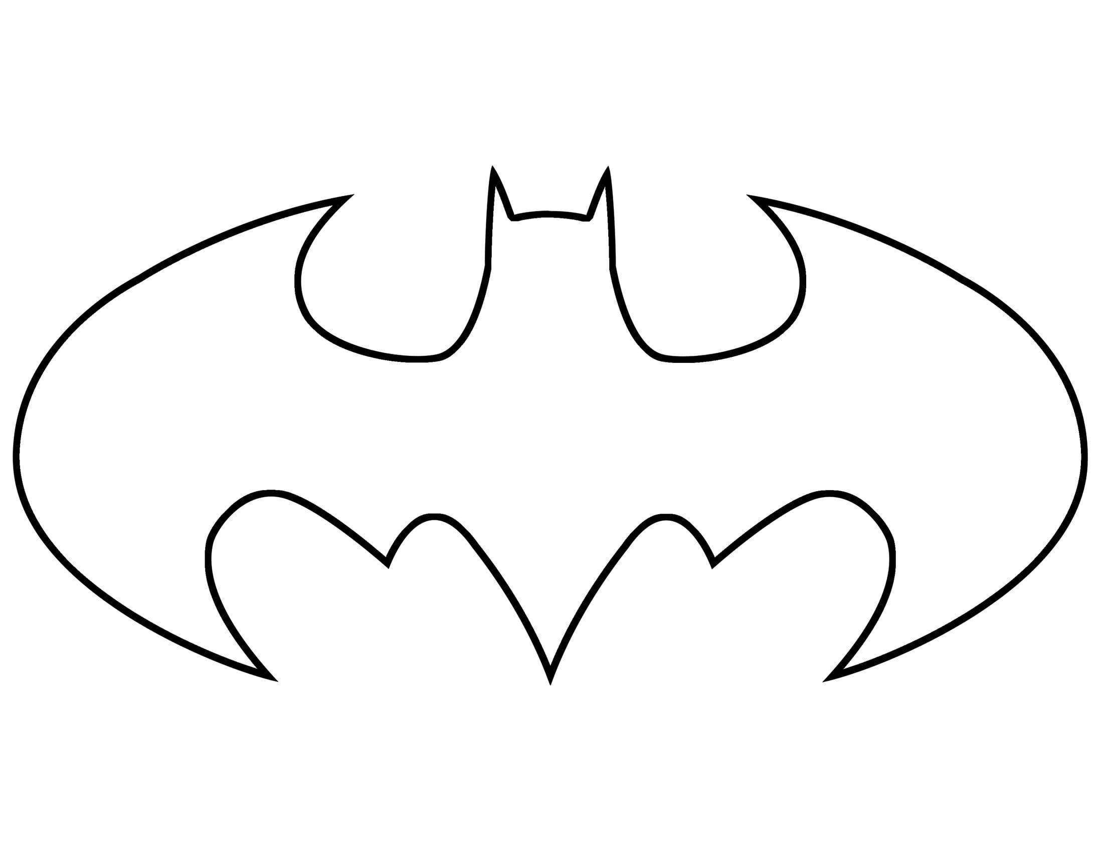Batman Symbol Outline Batman Coloring Pages Batman