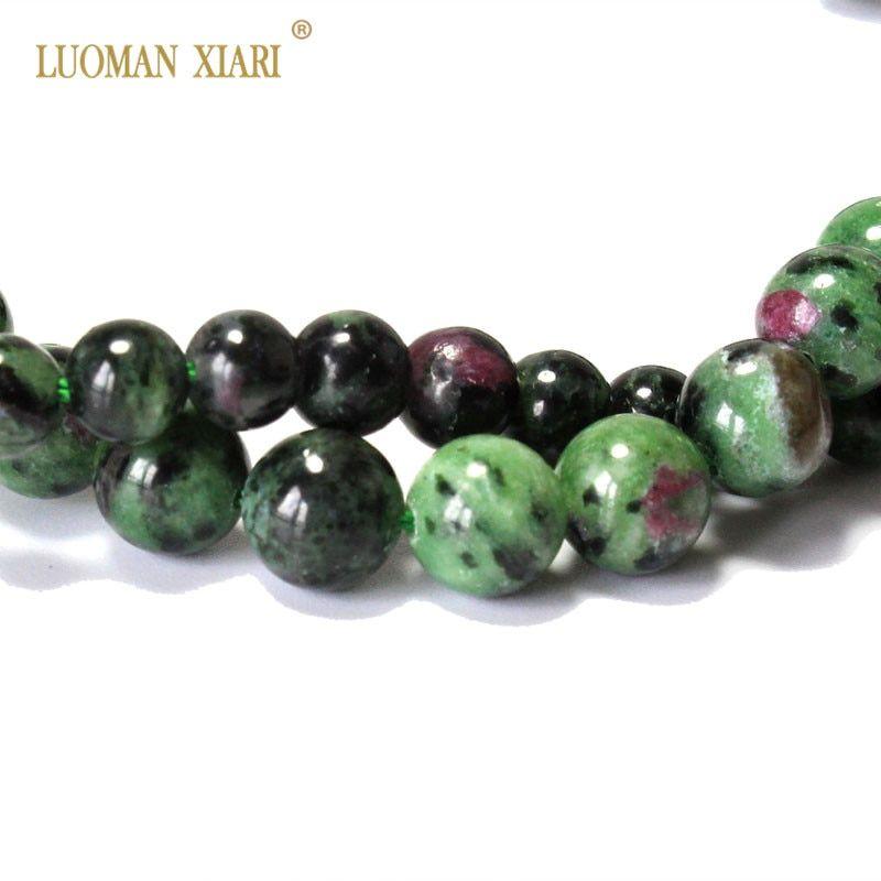 Pcs Gemstones DIY Jewellery Making African Jasper Round Beads 6mm Blue//Green 60