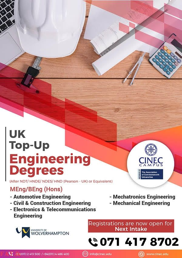 UK Top-up Degrees (One Year) - மாலபே   Mechatronics ...