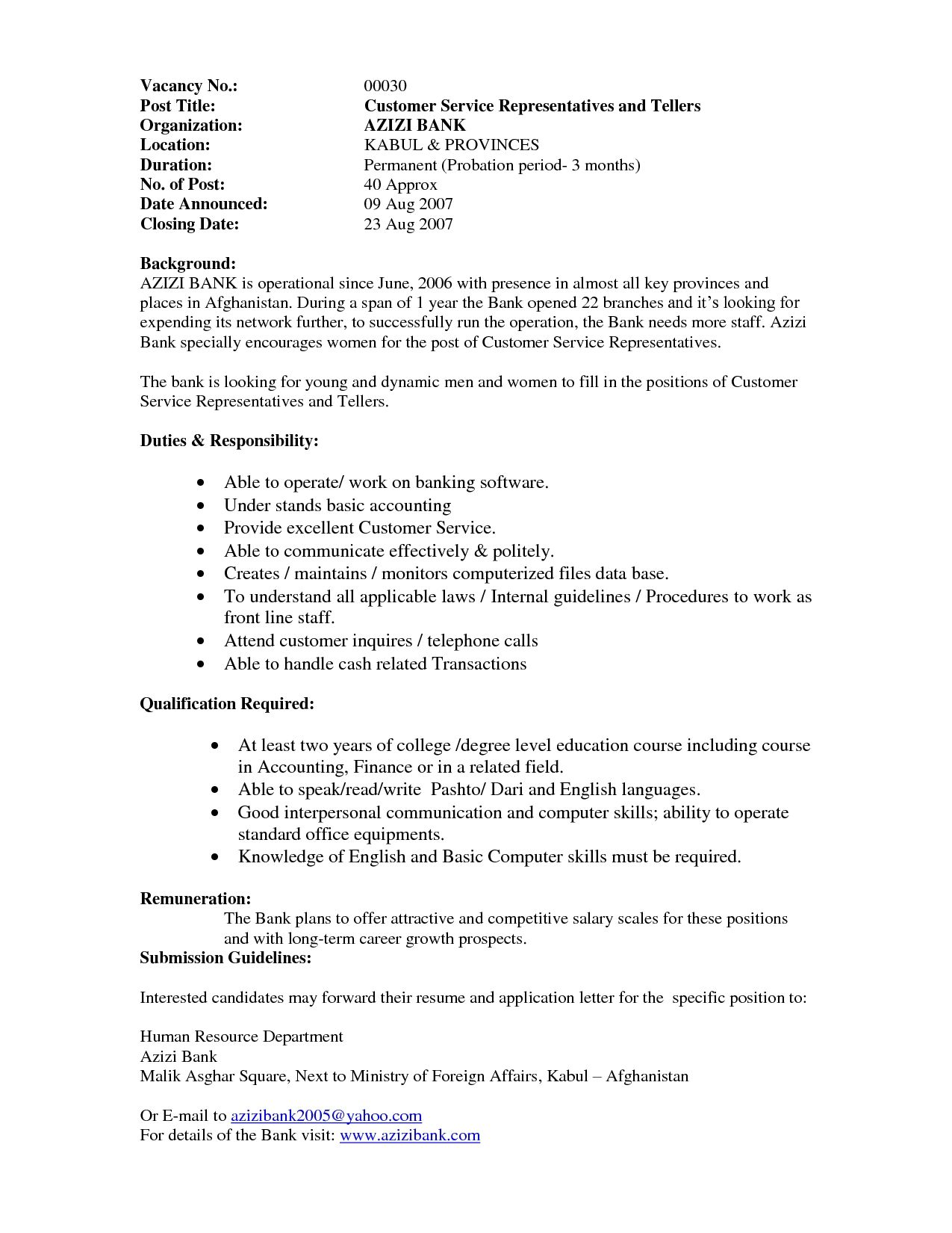 Head Teller Resume Gallery Resume Job Cashier Example Good Chef Examples Bank Teller