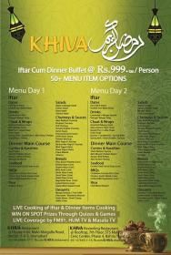 Khiva Restaurant Islamabad Iftar Buffet Dinner Deal Menu 2015 Rs 999 Tax Per Head Whatsonsale Iftar Dinner Deals Restaurant