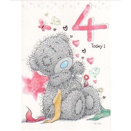 4th Birthday Tiny Tatty Teddy Birthday Card Me to You Happy – Tatty Teddy Birthday Cards