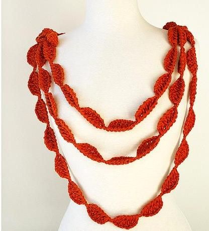 Twisted Crochet Necklace Pattern:: Free Pattern Friday …   Pinteres…