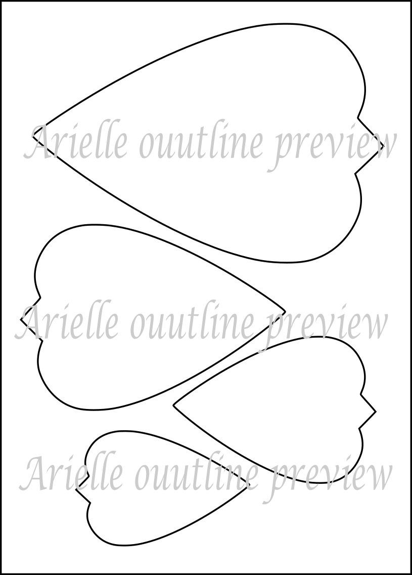 diy giant paper flower printable templates flower template [ 815 x 1136 Pixel ]