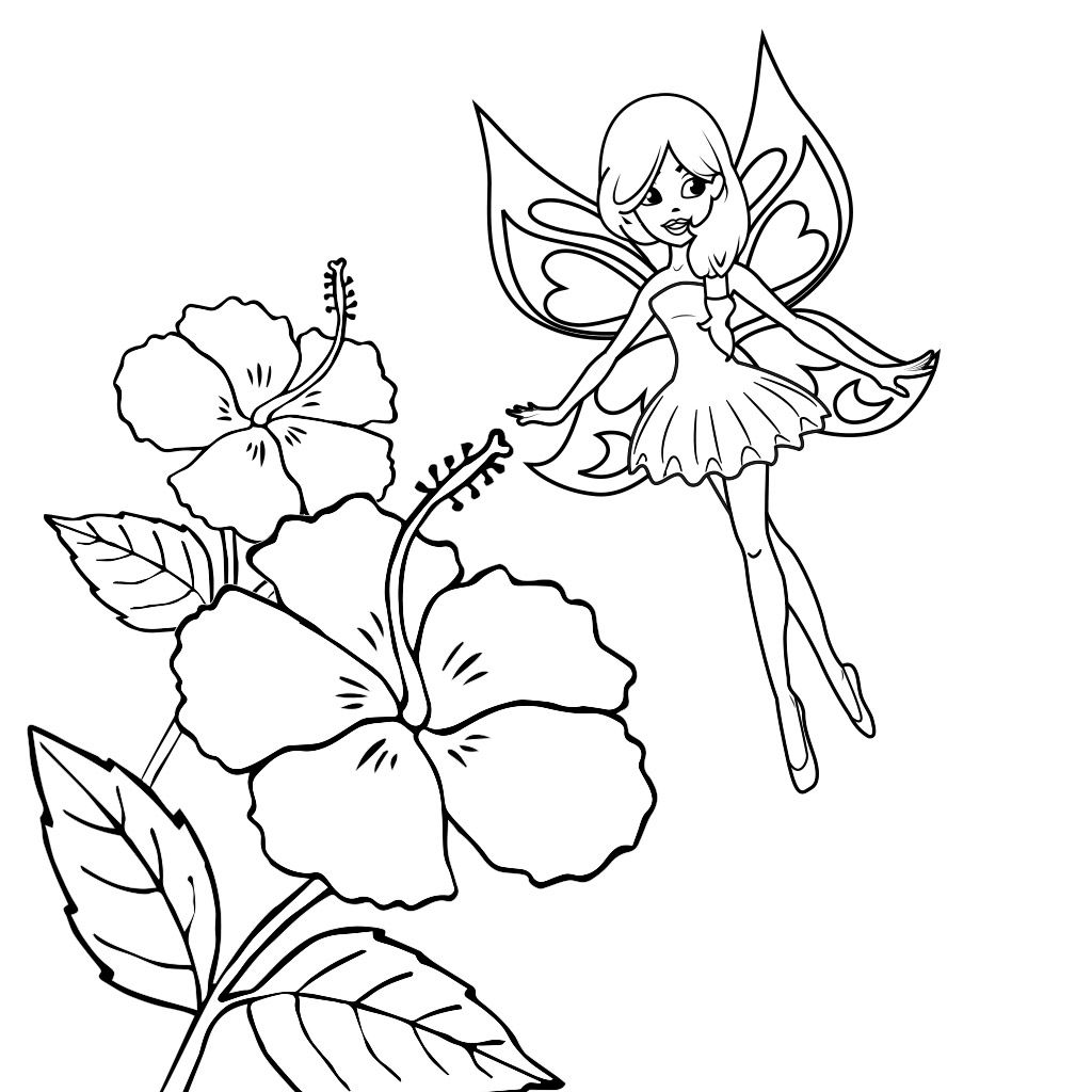 free printable fairy coloring pages for kids ) Fairy