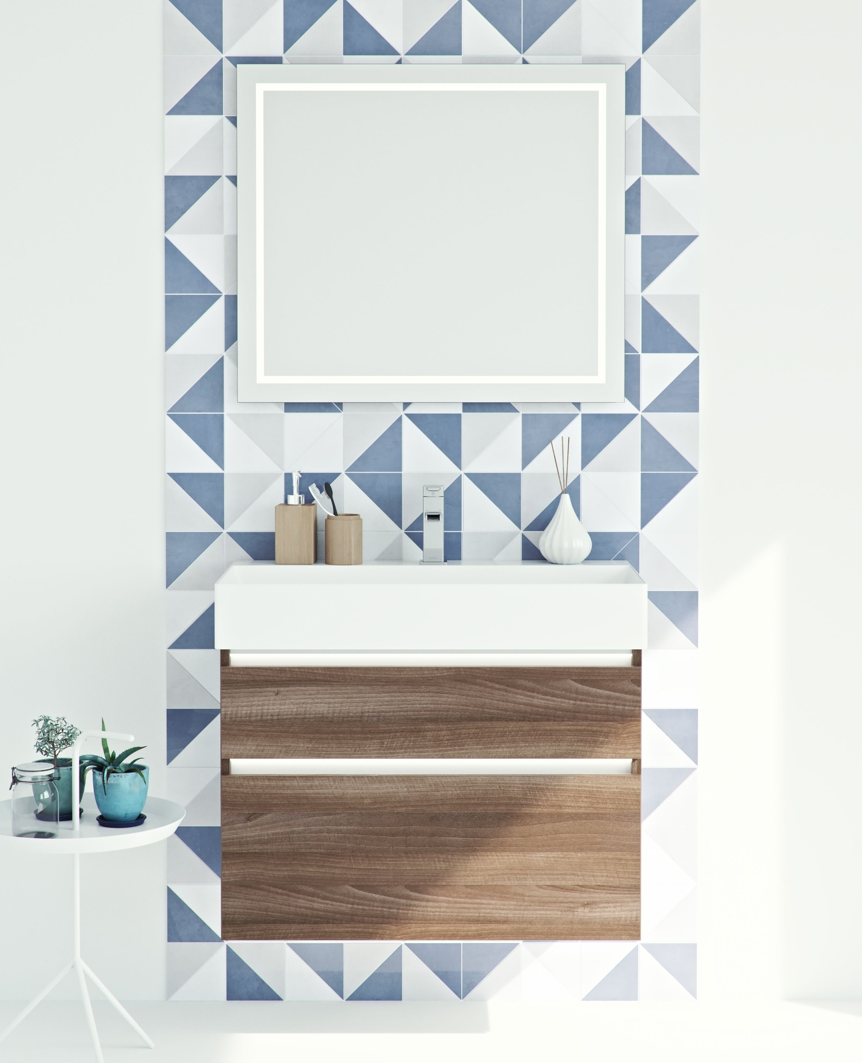 Model: Blend Width: 80 cm Color: M58 Noten Type: B | Wooden Bathroom ...