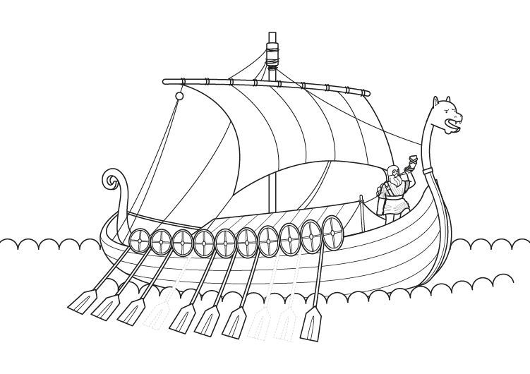 Vikingos Para Colorear Vikingo Dibujo Para Colorear E Impri