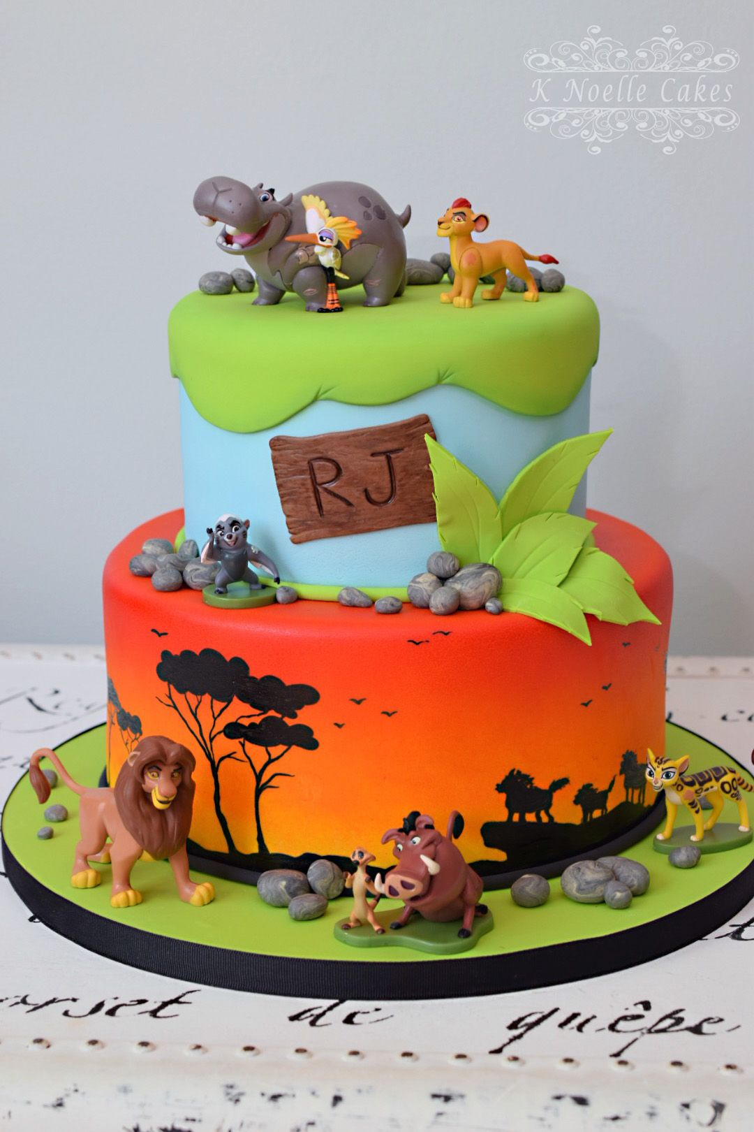 Lion Guard Lion King Theme Cake By K Noelle Cakes Cakes By K