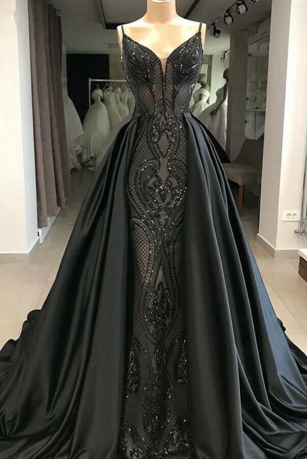 abendkleider lang glitzer | schwarze abiballkleider mit