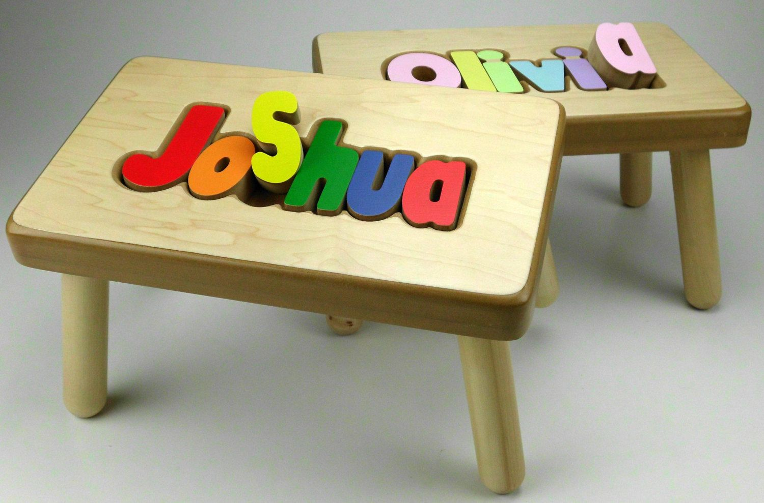 Name Puzzle Stool Name puzzle, Personalized puzzles