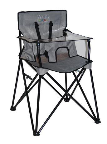 Ciao Baby Portable High Chair Grey Checkered Portable High