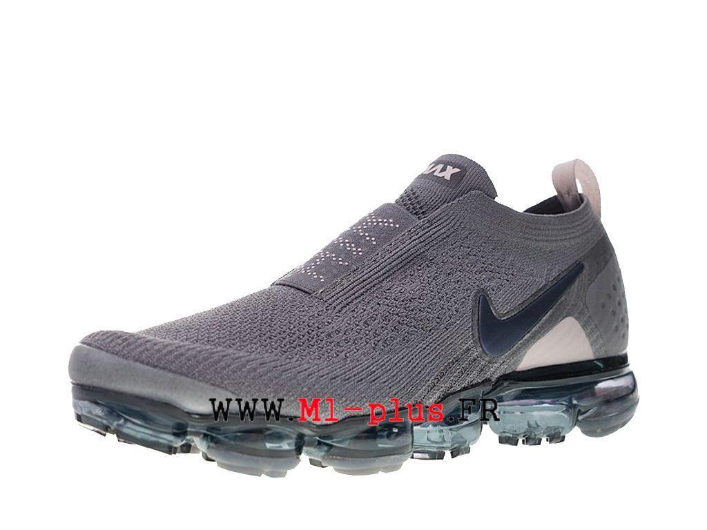 Nike Air VaporMax Flyknit 2. 0 Chaussures 2018 Pas Cher Pour Homme Gris  noir Aj6599-003 7676bd299