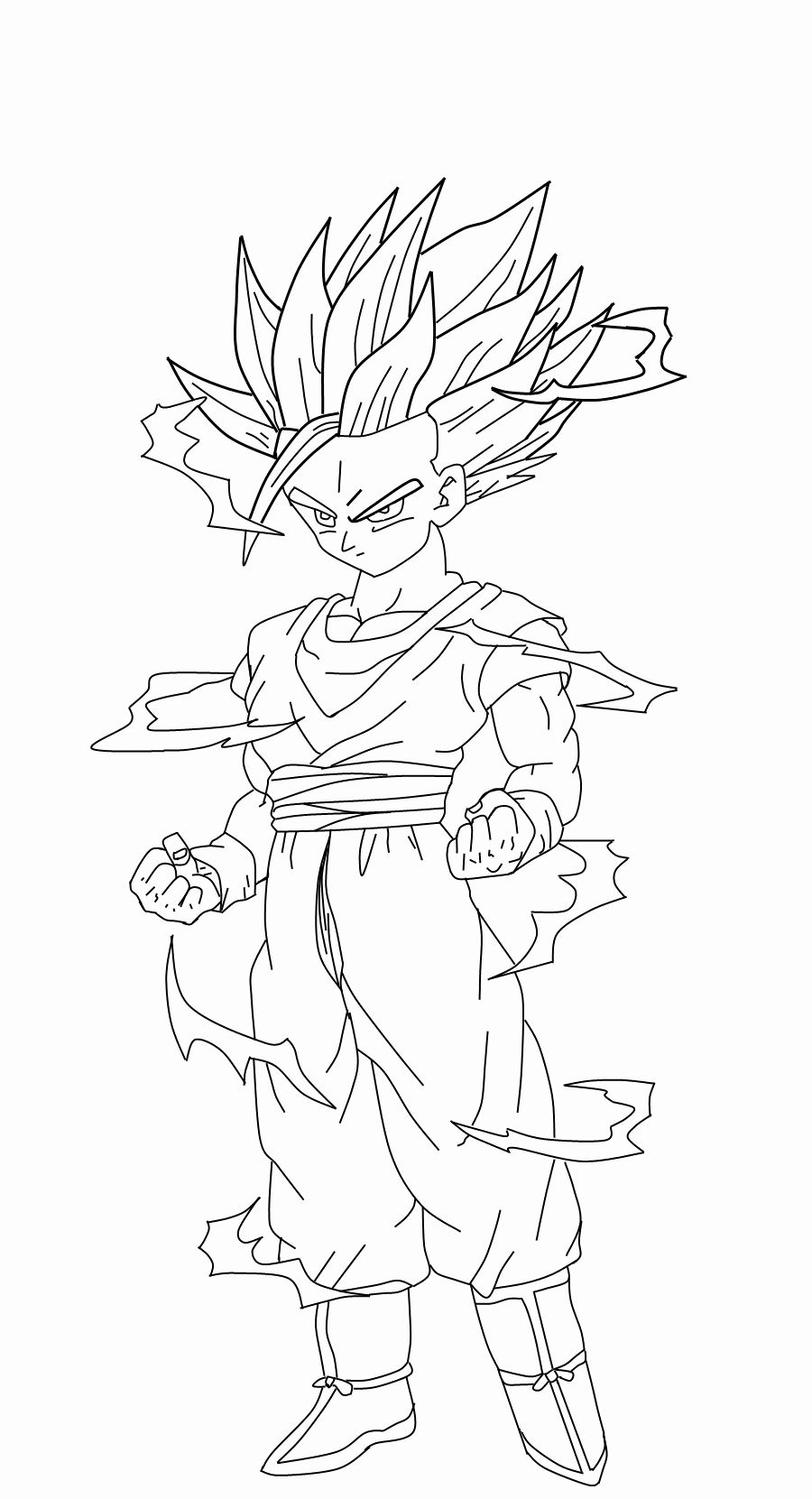 Dragon Ball Z Coloring Page Elegant Dragon Ball Z Goku Super Saiyan 2 Coloring Pages Coloring Home Dragon Ball Artwork Dragon Ball Image Dragon Ball Art