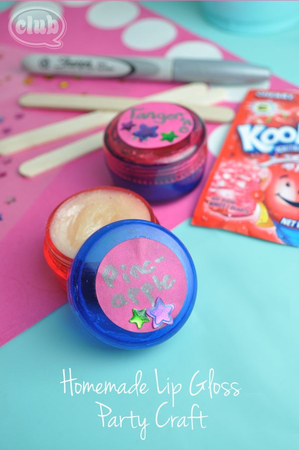 Tween Lip Gloss Sleep Over Party Spa Party Party Activities