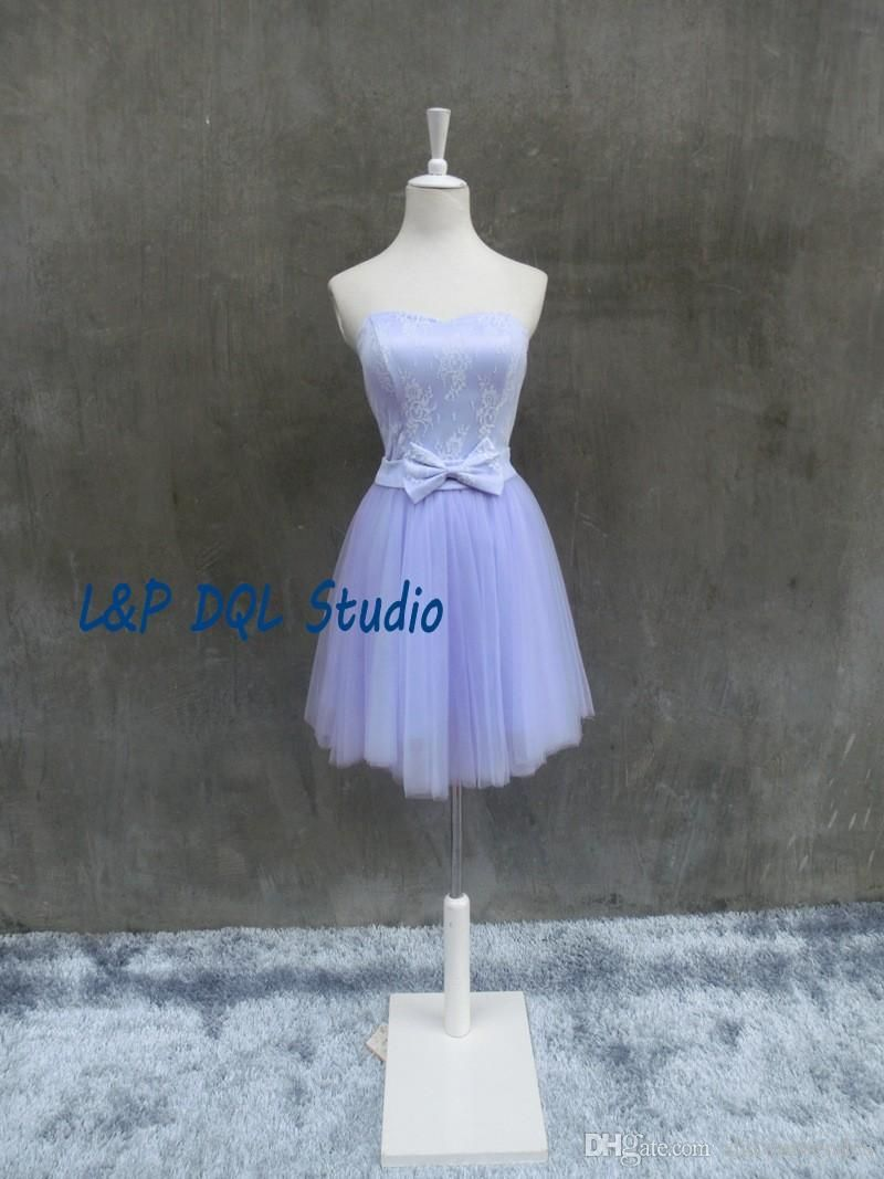 Cocktail dresses wedding  Lilac Bridesmaid Dresses Lace Wedding Party Dresses Sweetheart
