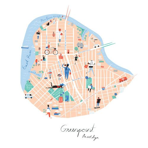 map of greenpoint brooklyn Pin On Eye Candy Design Lettering map of greenpoint brooklyn