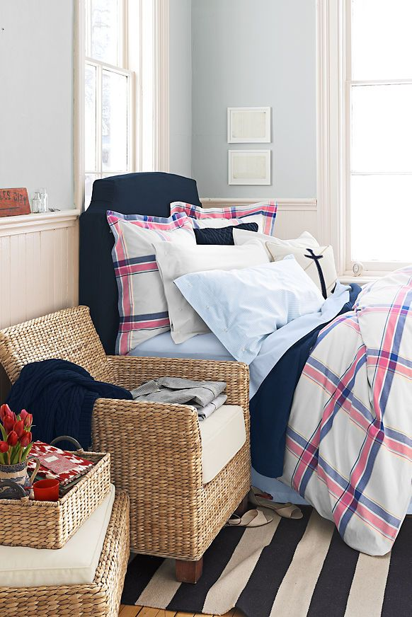 Lands End Couch Covers: Lands' End Classic Oxford Plaid Bedding