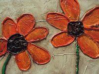 Caulk And Paint Flower Art Handmade Wall Art Flower Painting Flower Art