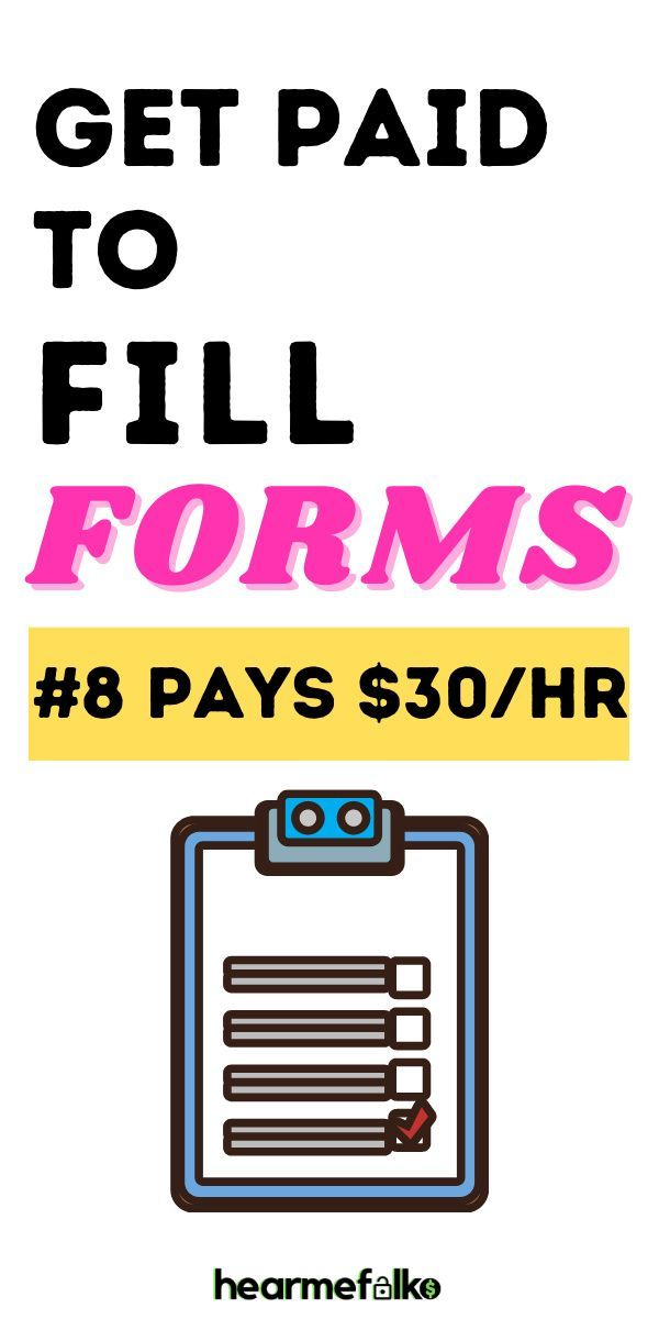 15 Free Form Filling Jobs: Make Over $100/hr | Hea