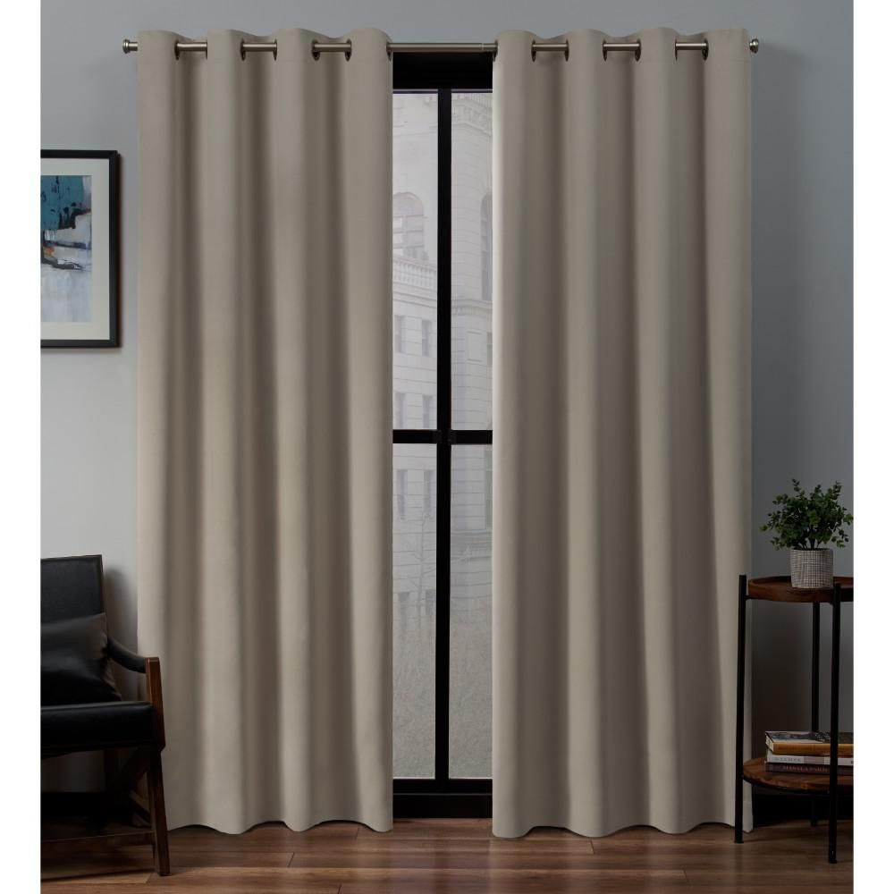 Exclusive Home Curtains Sateen 52 In W X 84 In L Woven Blackout