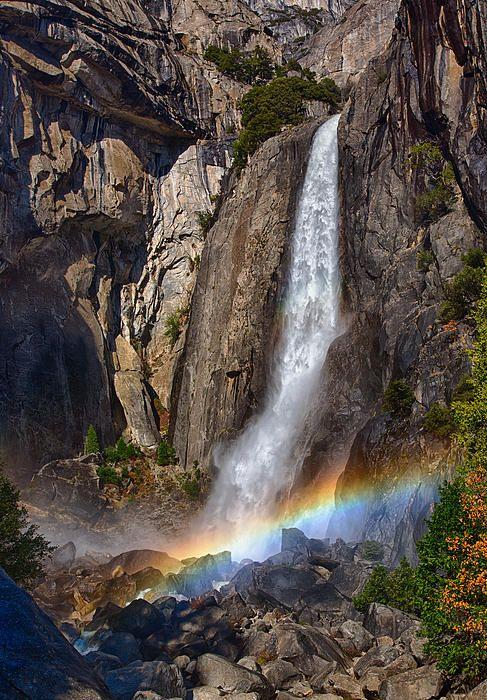Yosemite Falls And Rainbow By John Gregg Yosemite Falls Rainbow Waterfall Yosemite